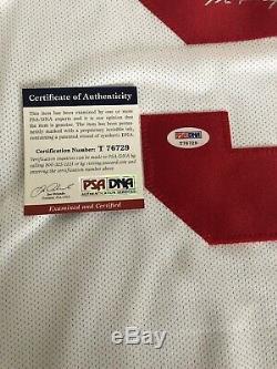Gordie Howe Autographed White Reebok jersey PSA/DNA COA