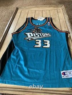 Grant Hill Autographed/Signed Jersey PSA/DNA COA Detroit Pistons