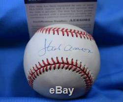 HANK AARON PSA DNA Coa Autograph National League Signed Baseball