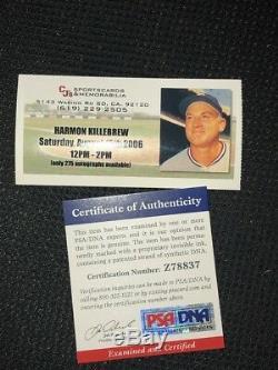 HARMON KILLEBREW AL MVP 69 SIGNED BAT autograph LOUISVILLE SLUGGER PSA/DNA COA