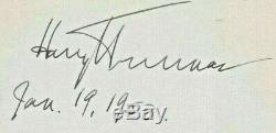 HARRY S. TRUMAN Signed and Dated White House Card PSA/DNA LOA COA