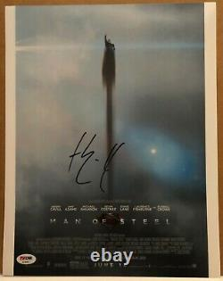 HENRY CAVILL as SUPERMAN 11X14 SIGNED PHOTO #2 MAN OF STEEL PSA DNA COA