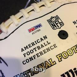 Hall Of Fame Multi Signed Inscribed NFL Football 20 Sigs Joe Namath PSA DNA COA