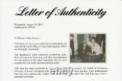Historical Martin Luther King Signed 1964 Nobel Prize Photo 1/1 Rare Psa/dna Coa