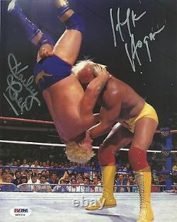 Hulk Hogan & Harley Race Signed WWE 8x10 Photo PSA/DNA COA Picture Autograph WWF