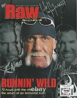 Hulk Hogan Scott Hall Kevin Nash Signed WWE Magazine Cover PSA/DNA COA NWO Auto