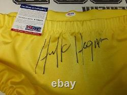 Hulk Hogan Signed Pro Wrestling Trunks PSA/DNA COA WWE Wrestlemania 1980's Style