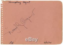 Humphrey Bogart Signature Album Page PSA/DNA COA