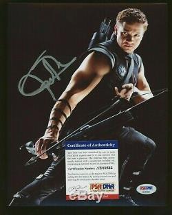 JEREMY RENNER Signed 8x10 Photo Avengers Endgame Autographed PSA/DNA COA