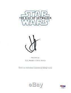 JJ Abrams Signed Star Wars THE RISE OF SKYWALKER Movie Script Cover PSA/DNA COA