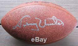 JOHNNY UNITAS Autograph/Signed NFL Football! PSA/DNA COA/Full Letter! AWESOME
