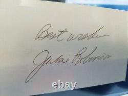Jackie Robinson PSA/DNA cert #AJ08203 (d. 1972) AUTOGRAPHED 3x5 Index Card