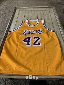 James Worthy Autographed/Signed Jersey PSA/DNA COA Los Angeles Lakers LA