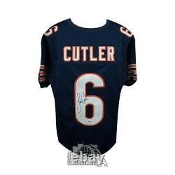 Jay Cutler Autographed Chicago Bears Custom Navy Football Jersey PSA/DNA COA