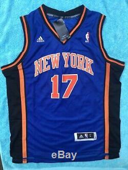 Jeremy Lin Signed New York Knicks Jersey PSA/DNA COA #17 Raptors LINSANITY NBA