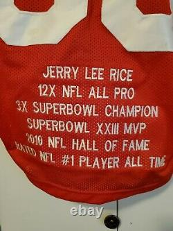 Jerry Rice SIGNED Jersey, EMBROIDRD San Francisco 49er HALL OF FAME PSA/DNA COA
