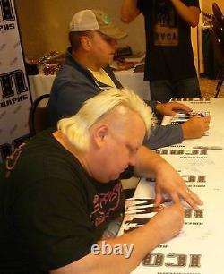 Jim Neidhart Jimmy & Bret Hart The Nasty Boys Signed 8x10 Photo PSA/DNA COA WWE
