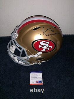 Jimmy Garoppolo Signed San Francisco 49ers Full Size Speed Helmet PSA/DNA COA