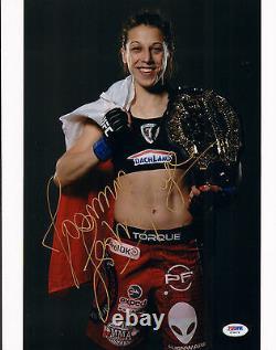 Joanna Jedrzejczyk Signed Auto'd 11x14 Photo Psa/dna Coa Z78379 Mma Ufc Champion