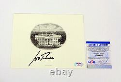 Joe Biden President 2020 Signed Autograph White House Engraving PSA/DNA COA