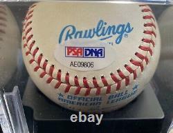 Joe DiMaggio Autographed American League Baseball New York Yankees COA PSA DNA