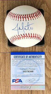 Jon Lester Chicago Cubs Signed Baseball OMLB Autograph Rare PSA/DNA COA