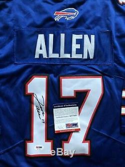Josh Allen Signed Buffalo Bills Jersey PSA/DNA COA #17 Wyoming NFL Star RARE