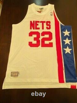 Julius Erving Signed Autographed Adidas Nets Jersey Psa/dna Coa Ag99922 Nwt