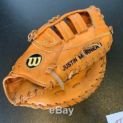 Justin Morneau Signed 2009 Game Used Baseball Glove With PSA DNA COA