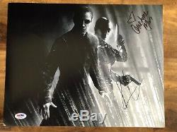 KEANU REEVES CARRIE-ANNE MOSS MATRIX SIGNED 11x14 PHOTO AUTOGRAPHED PSA/DNA COA
