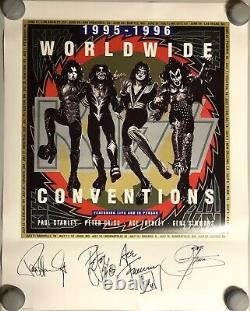 KISS Convention Lithograph Poster Signed By All Four Originals PSA/DNA COA Rare