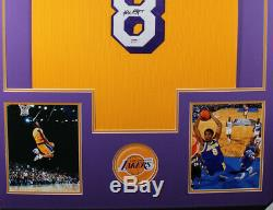 KOBE BRYANT Autographed Jersey #8 Cust Framed New -Lakers Jersey PSA/DNA COA