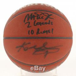 KOBE BRYANT & MAGIC Johnson VERY RARE Dual Signed Basketball PSA/DNA Beckett COA
