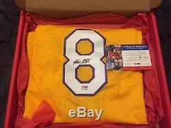 KOBE BRYANT SIGNED AUTOGRAGHED #8 LAKERS XL JERSEY PSA/DNA withCOA