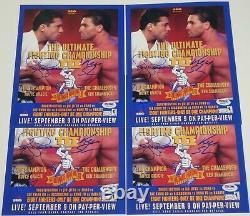 Ken Shamrock & Royce Gracie Kimo Signed 8x10 Photo PSA/DNA COA UFC 3 Poster Auto