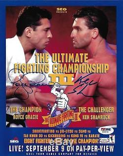 Ken Shamrock & Royce Gracie Signed 8x10 Photo PSA/DNA COA UFC 3 Poster Autograph