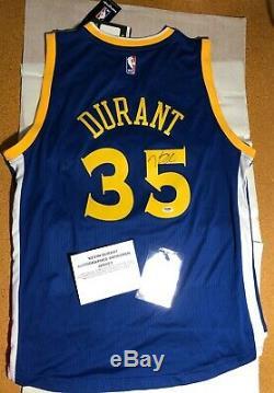 Kevin Durant PSA/DNA COA autograph jersey NBA champs signed Adidas Swingman