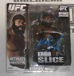 Kimbo Slice Signed UFC Round 5 Action Figure PSA/DNA COA Bellator MMA Autograph