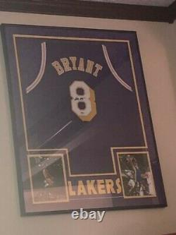 Kobe Bryant Autographed Jersey with PSA DNA COA #8 New framed