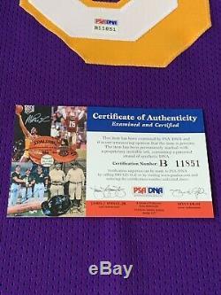 Kobe Bryant Autographed/Signed Jersey PSA/DNA COA Los Angeles Lakers LA