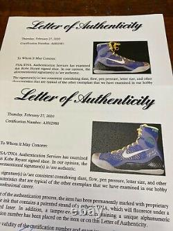 Kobe Bryant Dual Signed Game Issued PE Shoes PSA DNA Coa IX Elite Lakers