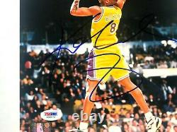 Kobe Bryant Rare! Signed autographed Lakers early 1997 8x10 photo PSA/DNA coa