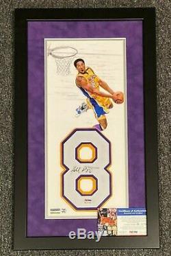 Kobe Bryant Signed 14x24 Framed Jersey Number 06/10 Photo Display PSA/DNA COA