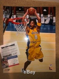 Kobe Bryant Signed 16x20 Photo Autographed AUTO PSA/DNA COA Lakers RARE