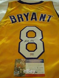 Kobe Bryant Signed Auto Jersey Rare Full Signature Rookie Era Champ Psa/dna Coa