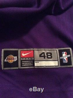 Kobe Bryant Signed Autographed Authentic Nike Lakers Jersey Psa Dna Coa