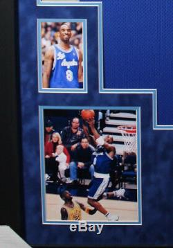 Kobe Bryant Signed Jersey RARE #8 Lakers Blue! Custom SUEDE Framed COA PSA/DNA