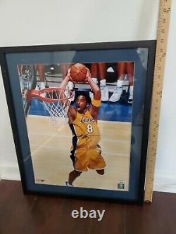 Kobe Bryant Signed LA Lakers Photo Framed PSA DNA COA
