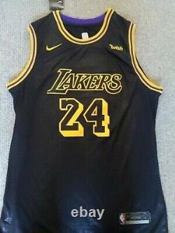 Kobe Bryant Signed Los Angeles Lakers Jersey Psa Dna Coa Rare Black Mvp #24 Nba