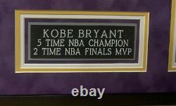 Kobe Bryant Vintage 2001 Full Name Autographed Framed Jersey PSA/DNA&Beckett COA